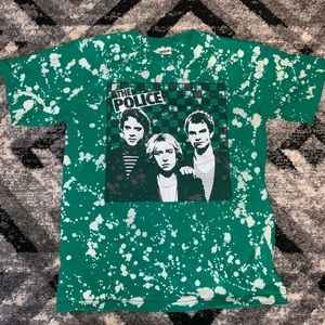 The Police Custom Bleached T-shirt